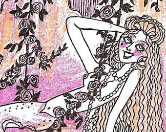 Dame Darcy Mermaid Fantasy Print