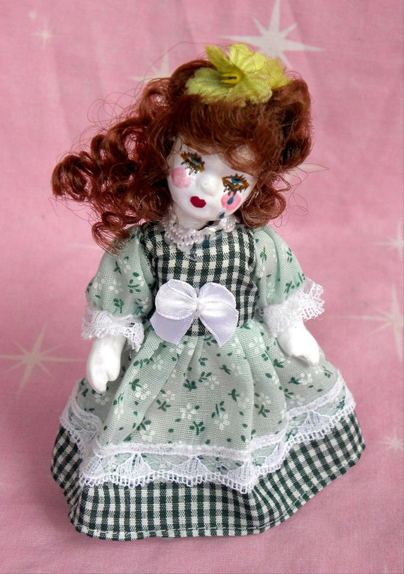 SALE Porcelain Baby Doll Violet Gothic Lolita Dame Darcy Art Doll