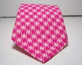 Necktie Me and Matilda Everyday Necktie Hot Pink Houndstooth