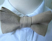 Bow Tie for Little Boys Natural Linen