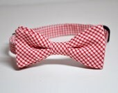 Bowtie for Boys Red Gingham Seersucker LOTS of COLORS Available