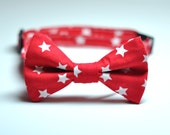 Red and White Stars Bowtie for Boys Patriotic Kids Tie