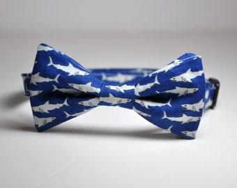 Bowtie for Boys Blue Sharks