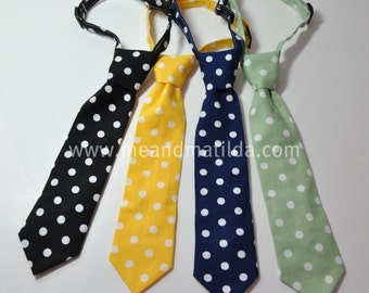 Necktie Polka Dot Childrens Ties