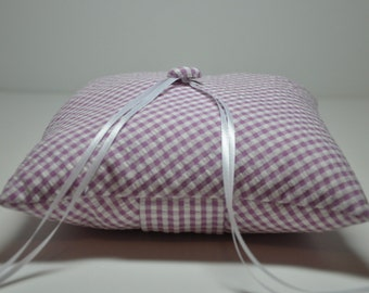 Simply Modern Ring Pillow Lavender Gingham Seersucker LOTS OF COLORS Available