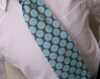 Slate Blue Necktie for Men or Boys - Big Dot Tie