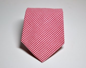 Red Houndstooth Necktie for Men or Boys