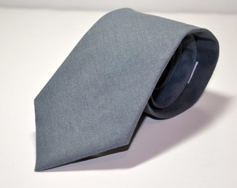 Grey Linen Necktie - Mens Tie or Boys Tie - Lots of Colors Available