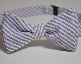 Bowtie for Little Boys Lavender Stripe Seersucker LOTS of COLORS Available