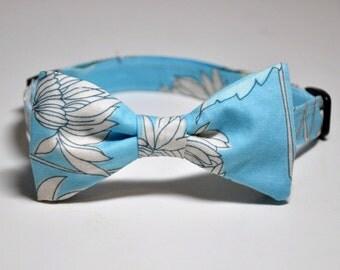 Boy's Tie - Blue Bow Tie - Teen Boy Toddler Baby Bowtie