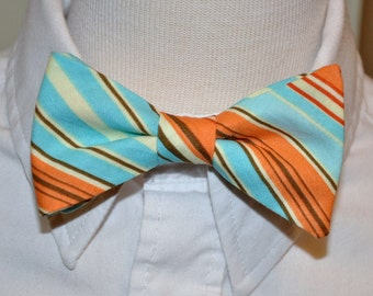 Bowtie for Little Boys Retro Orange Stripe