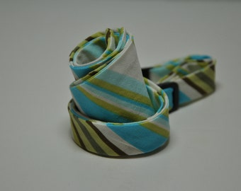 Freestyle Bow Tie for Men River Blue Stripe