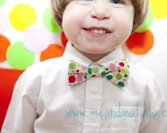 Boys Bow Tie - Christmas Dots Bowtie for Children