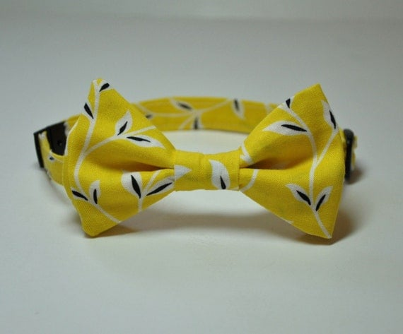Yellow Vines Bowtie for Little Boys