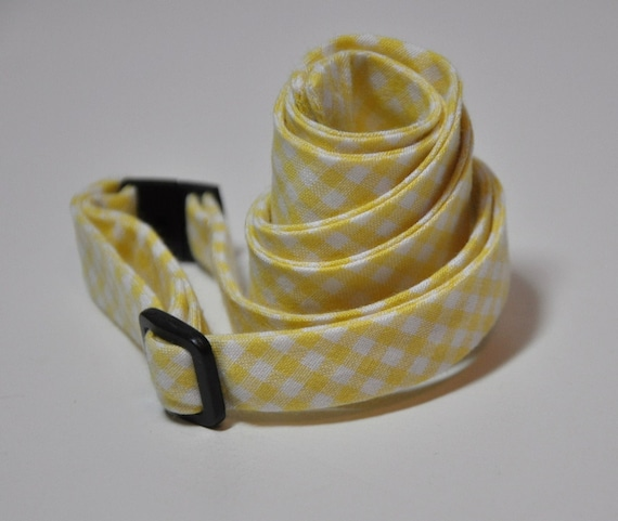 Yellow Gingham Men's Bow Tie, Yellow Bowtie, Self Tie Bow Tie, Rustic Wedding, Preppy Bow Tie, Southern Bowtie, Cotton Tie, Gingham Tie