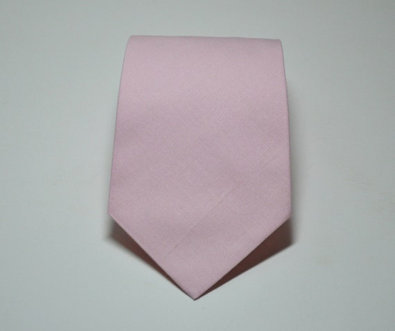 Necktie Solid Pink Cotton Me and Matilda Everyday Mens Necktie or Boys Necktie  LOTS of COLORS AVAILABLE