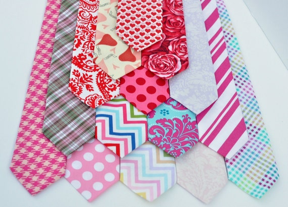 Valentines Day Neckties - Pastel Hearts Collection - Ties for Men Boys Toddlers and Baby - Photo Prop