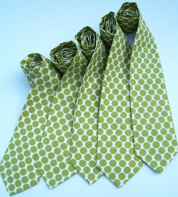 5 Neckties for your Wedding Party Any Color Print or Size