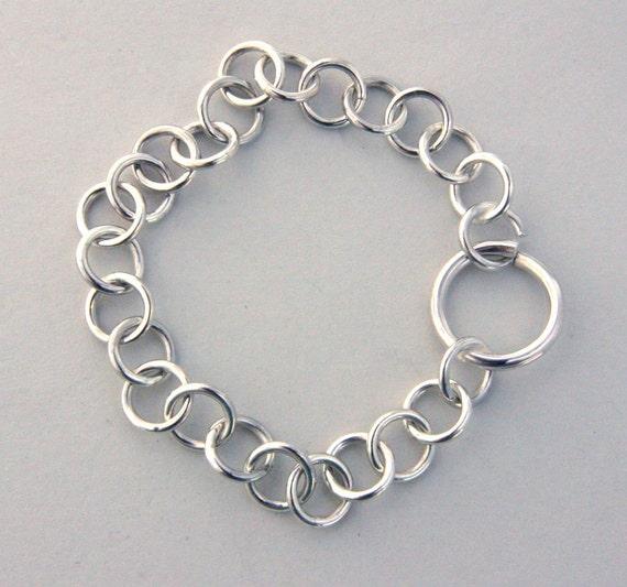 Simple Link Bracelet in silver