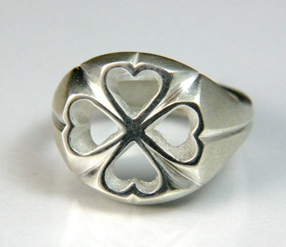 Hearts and Clovers Silver Ring