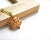 Ancient Blooms -- Carved Rose Rounds - Gold Jewelry, Gold Necklace, Everyday Simplicity, Petite Romance, Classic Chic, Everyday Elegance
