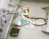Opulence -- Baroque Chandeliers (Silver) - Swarovski Earrings, Silver Jewelry, Everyday Classics, Wedding Jewelry, Elegant Chic,  Formal