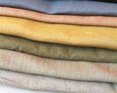 Linen and Ramie fabric scraps in neutral tones
