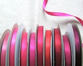 Ribbon - Double Faced Satin Ribbons - 5 yard cut, choice of 50 colors