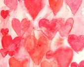 Valentine Watercolour Hearts