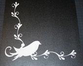 Scrapbooking scroll border - Birdivine - White