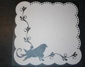 12x12 White die cut lace paper - Birdivine
