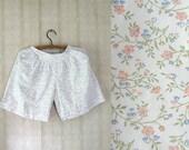 vintage 1970's handmade cotton shorts