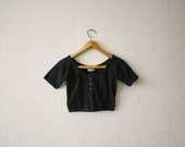 vintage 1980's black belly top