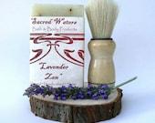 Lavender Shaving Kit - soap and brush