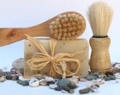 Ocean Rain Soap mens scent, clean fresh musk, vegan cold process soap, Monsoon - 4oz soap bar