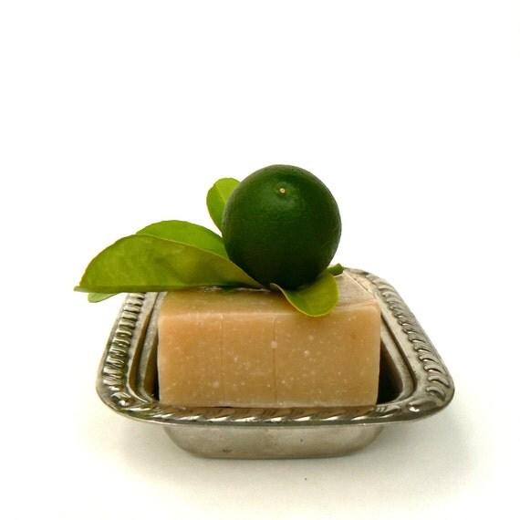 Spicy Lime Soap, vegan handmade olive oil soap, natural, essential oils, bar soap, citrus, green ecofriendly, men