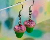 Cupcake Earrings in Green