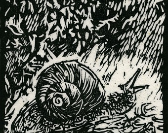 Snail After the Rain - Limited Edition Woodblock print
