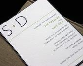 The Modern Wedding Invitation (SAMPLE SET)