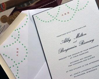 Cheers Wedding Invitation (Sample Set)
