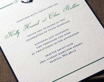 Ahoy Wedding Invitation (Sample set)