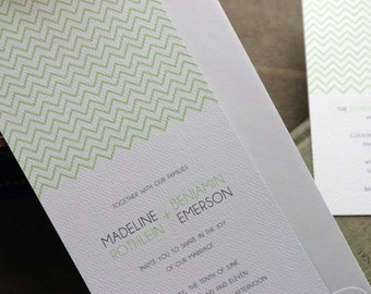 Zig Zag Wedding Invitation (SAMPLE SET)