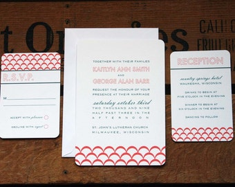 Clementine Wedding Invitation (SAMPLE SET)