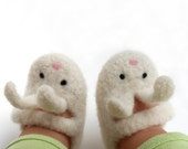 6-9 months\/Little Bunny Shoe-Shoe Felted Merino Baby Mary Janes