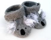 Little Koalas Felted Merino Baby Ankle Booties