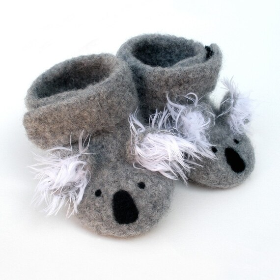 Little Koalas Felted Merino Baby Ankle Booties