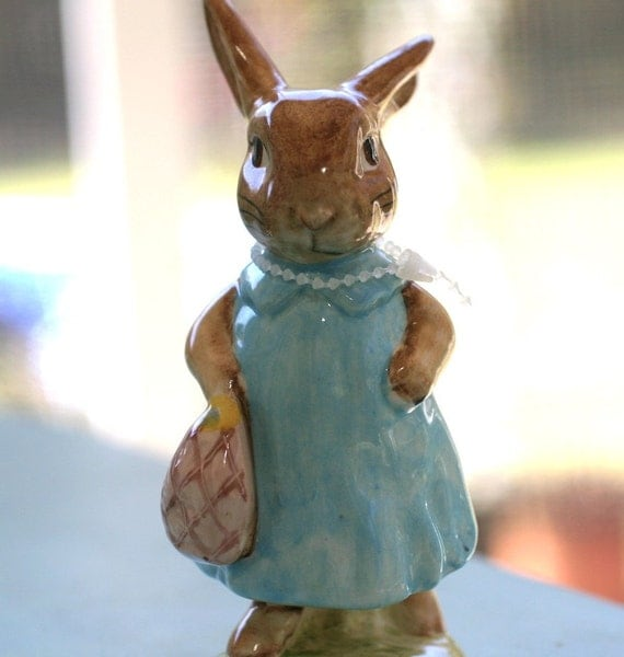 Mrs Flopsy Bunny Vintage Beatrix Potter Beswick By Dashalee3