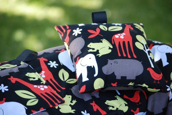Shopping Cart Cover for boy or girl Custom by Tinder Designs Boutique - Zoology in Black