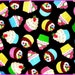 Shopping Cart Cover - Custom Boutique Shopping Cart Cover for Girl  -  Cupcakes on Black