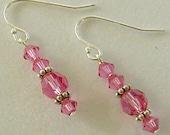 Nicole Swarovski Rose Dangle Earrings